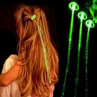 (10pcs   lot ) Luminous Light Up LED Hair Extension Flashing...