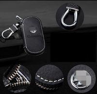 Натуральная кожа автомобиля логотип ключ пакет подарочные кошельки мужчины ключевой держатель домработница ключи брелок обложки молния ключ чехол сумка кошелек