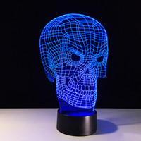Spooky Brand New Skull 3D Illusion Night Lamp 3D Optical Lam...
