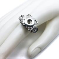Hot vente de haute qualité 004 mode anneau métal bricolage ajustement gingembre 12mm bouton circlips anneaux de charme bijoux pour les femmes