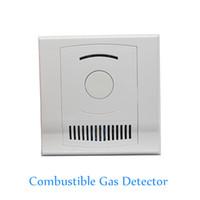 Innengebrauch An der Wand befestigter Detektor des brennbaren Gases Kohle natürliches LPG-Gasleck Feueralarm CH4 undichter Sensor NC KEINE Signalwahlen Freies Verschiffen