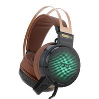 Esport gaming fone de ouvido 3.5mm over-ear fone de ouvido estéreo fone de ouvido usb com fio com microfone luzes led para ps 3 4 desktop pc laptop
