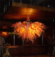 AC110V-220V выдувного муранского стекла Люстра Отель Декор турецкий Стиль Vintage Glass хрустальной люстрой света для продажи