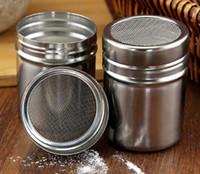 Fashion Hot Stainless Shaker Cioccolato Farina di Cacao Zucchero a velo in polvere Caffè Setaccio Coperchio Shaker Utensili da cucina