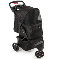 Deluxe Pet Stroller Cat Dog 3 Wheel Walk Jogger Travel Foldi...