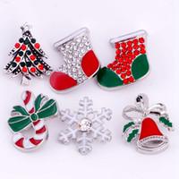 20pcs 18mm bouton pression Noël bouton pression Chunk 5 styles mélangés Bricolage Bijoux interchangeables Fit Noosa Bracelet