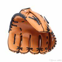 "Pitcher Baseball Glove Softball Gloves Young Adult 10.5""/11.5""/12.5"" Softball Baseball Glove Outdoor Team Sports Left Hand Brown"