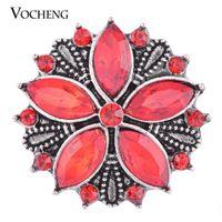 NOOSA 18 mm Ginger Snap Full Bloom 3 colores Crystal Vintage joyería VOCHENG Vn-1099