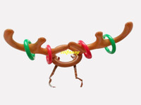50 шт. / Лот Горячие Продажи Детей Дети Рождество Надувные Санта Смешные Олень Рога Шляпа Кольцо Бросок Рождественские Праздничные Атрибуты Игрушки
