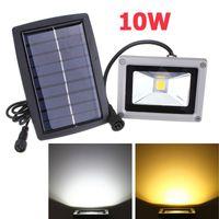 10W تعمل بالطاقة الشمسية مصباح LED الكاشف للماء في الهواء الطلق ضوء الفيضانات حديقة ساحة الحديقة ضوء المشهد الأضواء الجدار مصباح الديكور الخفيفة