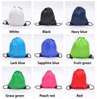 tecido Hot Drawstring não tecido sacolas impermeáveis Backpack dobrar sacos de promoção de marketing cordão bolsa de ombro sacos de armazenamento 2875