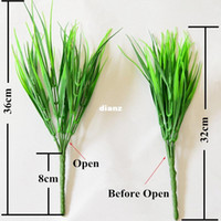 New Arrive Green Grass Artificial Plants For Plastic Flowers...