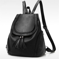 2017 Early Summer New Korean Fashion Women Backpack Black So...