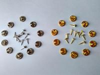 10mm Paznokci Paznokci Zapięcie Złoto Silver Mosiądz Tie Tacks Tacs Butterfly Pin Badge Lapel Powrót Sprzęgło do Ubrania Biżuteria Ustalenia Broszki Rozpraszamy