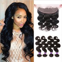 9A Body Wave Human Hair Weaves With Ear To Ear Full Lace Fro...