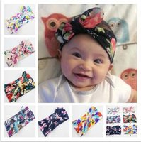 Free Shipping 6 colors baby headbands new print knitted bow ...