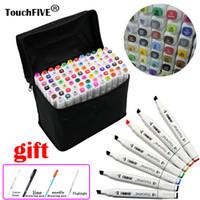 Touchfive 80 цветов маркеры ручки с двумя головками эскиз рисования анимация маркеры Copic набор для художника манга на основе графики