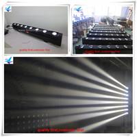 4 / lot 8x10w weißer beweglicher Lichtstrahlstreifen LED / Berufs-DJ-Innenstadiumsbeleuchtungssystem für geführte bewegliche Disco-Stange