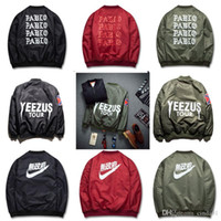 Men MA1 Bomber Jacket Pablo Jacket Kanye High Street Padded ...