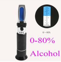 Refractómetro portátil Brix 0-80% Refractómetro de alcohol (escalas individuales) alcoholímetro licor probador de vinos licor con Estuche rígido