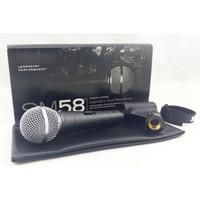 Top Quality e Corpo Pesado SM58S SM 58S Karaoke Vocal Handheld Dinâmico Microfone Com Fio Real Transformer Dentro Mic
