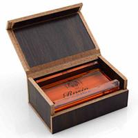 Yüksek Miktar Şeffaf keman rosin adanmış keman aksesuar parçaları Ahşap Kutu ile keman violino