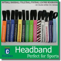 SOFTBALL SEAMSTITCH HEADBAND Stretch Sports Softball LEATHER