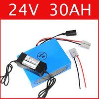 24V 30AH Lithium-Batterie super Leistung 29.4V Batterie Lithium-Ionen-Batterie + Ladegerät + BMS, elektrisches Fahrrad Pack Freier Zoll
