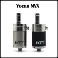 Authentique Yocan NYX Quartz Atomizers Vaporisateur de réservoir à cire avec extra Quartz Dual Coil Fit Box Mod 510 Thread 15W-25W Yocan Evolve Plus