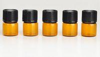 Бесплатная доставка 1 мл парфюмерные янтарные мини стеклянные бутылки, 1cc янтарный образец флакона, малый эфирной масло бутылки заводской цена N708