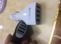 4 Порты USB Автомобильное зарядное устройство Один порт Быстрый зарядник Адаптер для Samsung S6 S7 EDGE Примечание 4 5