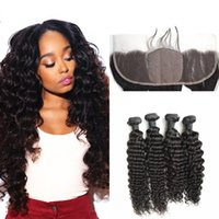 Frontal With Bundles Top Grade Virgin Mongolian Curly Hair S...