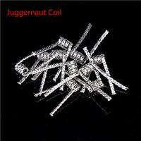 Испаритель встроенный Juggernaut сопротивление катушки 0.35 ом 26G * 32G * 2 сопротивление Juggernaut провода Fit RDA RBA E сигареты быстрая доставка
