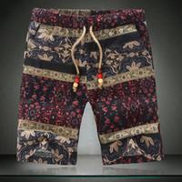 Atacado-verão homens imprimir shorts marca 2016 nova chegada de algodão casual calças curtas de alta qualidade calções de praia esporte 4xl 5xl plus size