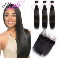 Peruvian Virgin Hair Weaves Extensions With 13x4 Lace Fronta...