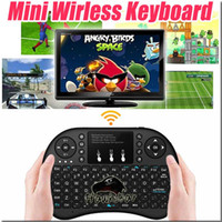 Rii i8 mini teclado Sem Fio para android caixa de tv backlight gaming usb Air mouse Com Touchpad 2.4G Para caixa Inteligente mxq