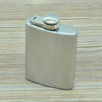 3. 5oz Stainless Steel Hip Flask Portable Mini Whiskey Wine B...
