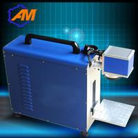 machine portative d'inscription et de gravure de laser de fibre de 20w pour l'acier inoxydable, le métal, l'aluminium
