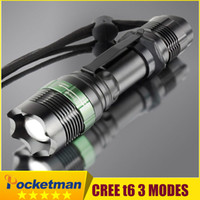 Zoomable CREE XM- L T6 LED Flashlight Torch Zoom Lamp Light B...