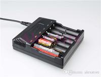 Orijinal Güven yangın TR-012 Dijital şarj trustfire pil şarj AU ABD AB İNGILTERE fiş ile 6 Yuvaları ile PK tr-j18 tr-001 tr-006 tr-008 DHL