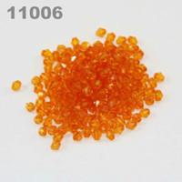 Perline in acrilico trasparente bicolore fai-da-te 4mm (900 pezzi) Arancione 11006