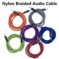 High Quality 3. 5mm Stereo AUX Nylon Braided Woven Audio Cabl...