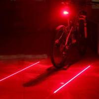 Retail Factory Sale Велоспорт Безопасность Велосипед Задний Ламп Велосипед Лазерный Хвост Свет (5LED + 2LASER)