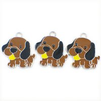 Pet Open Zhonguanty Lovely Pendants Dog LH501 Charms With For Arrival Jump Fit Rings DIY Key Chain Keyrings New Collar Hang Making Jewe Bxba
