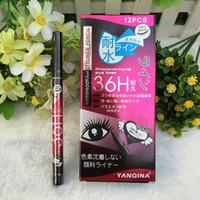 Ventes chaudes Femmes Dame Noir Stylo Imperméable À L'eau Liquide Eyeliner Eye-Liner Crayon Maquillage Beauté Comestics Livraison gratuite