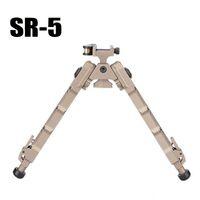 الألومنيوم التكتيكي SR5 ترايبود سريعة فصل SR-5 QD Bipod صالح 20MM picatinny السكك الحديدية للبندقية نطاق أسود / الظلام الأرض