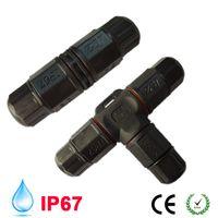 2 Broche 3 Broche T LED Câble électrique rapide étanche fil connecteur câble adaptateur enfichable à vis de verrouillage industriel Câble DC 12V 110V 220V DHL