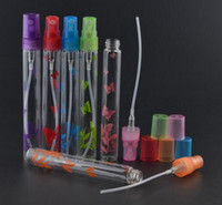 10 ml Yeni Stil 6 Renkler Mini Doldurulabilir Taşınabilir Parfüm Şişesi Cam Boş Sprey Baskı Şişe DHL Tarafından 300 Adet / grup Ücretsiz Kargo