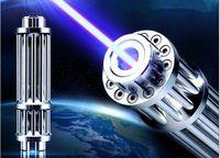 ГОРЯЧЕЙ! Сильная Высокая Мощность 5000000 м Синий Лазерные Указки 450 нм Лазерная Ручка Фонарик Охота С 5 Звездами Caps Охота обучение