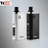 Аутентичный Yocan Explore Kit E Cigarettes Dry Herb Wax Vaporizer 2 в 1 комплектах 2600mAh Box Mod Portable E Cigs 100% Original